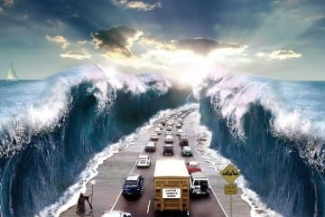 Splitting the Red Sea. COURTESY: http://www.theology21.com