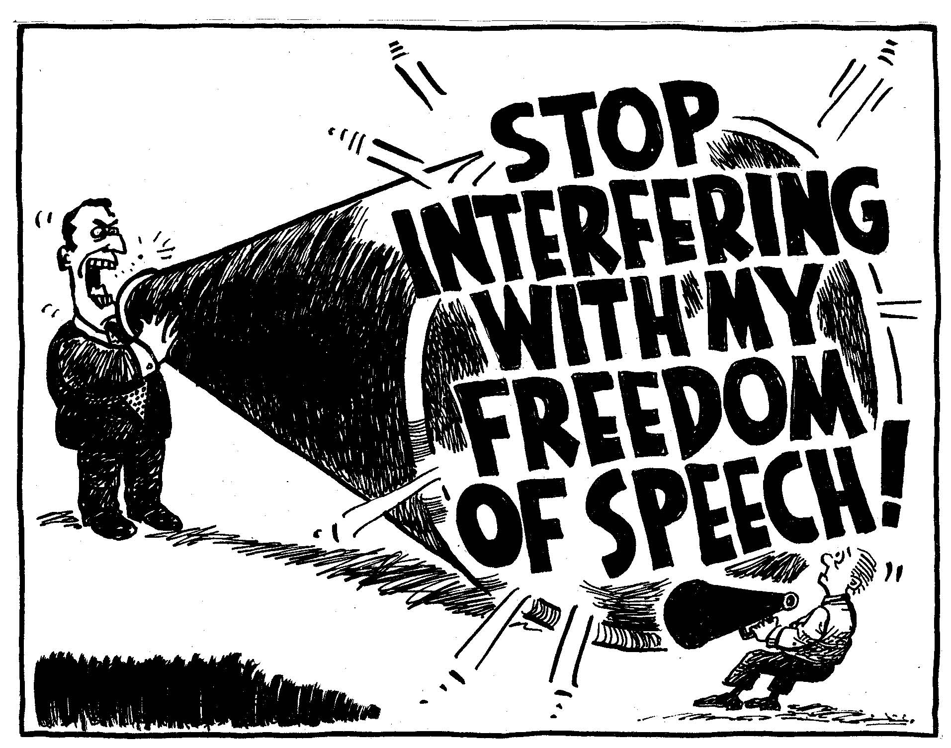 the misuse of freedom of speech If freedom of speech is designed to facilitate useful and meaningful progress in a society, the misuse of it destroys its necessity it no longer serves a purpose, and as lippmann suggests, may even create discord where it otherwise may not exist.
